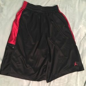 Jordan's black and red gym /basketball shorts